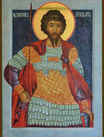 Heilige martelaar Theodorus Stratelates